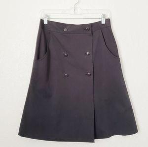 DKNY NWT Navy Blue A-Line Pleated Career Skirt 6